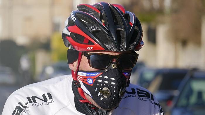 Maska antysmogowa Respro Cinqro Black na rower
